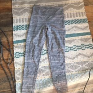 Gray and white high waisted comfy leggings